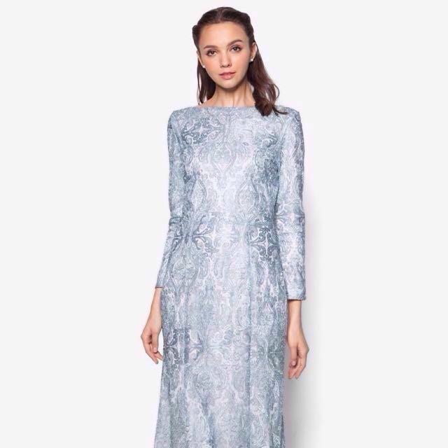 👭 Zalia Metallic Silver Blue (RENTAL)