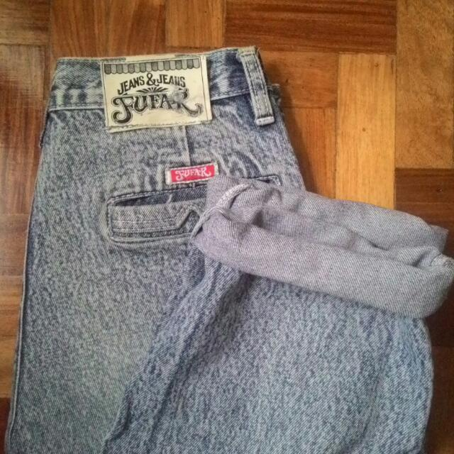 REPRICED!!ACID WASHED MOM JEANS