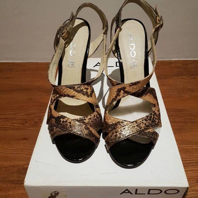 ALDO蛇紋高跟鞋