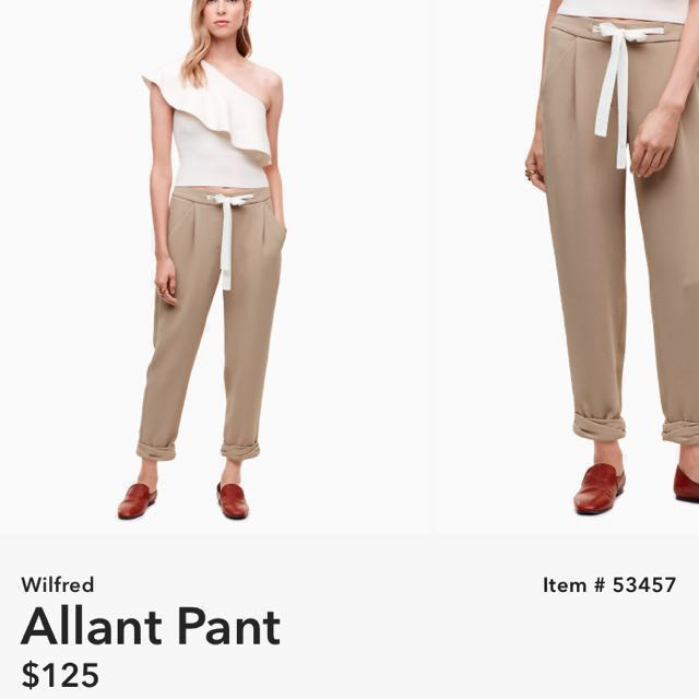 Aritzia Wilfred Allant Pant size0