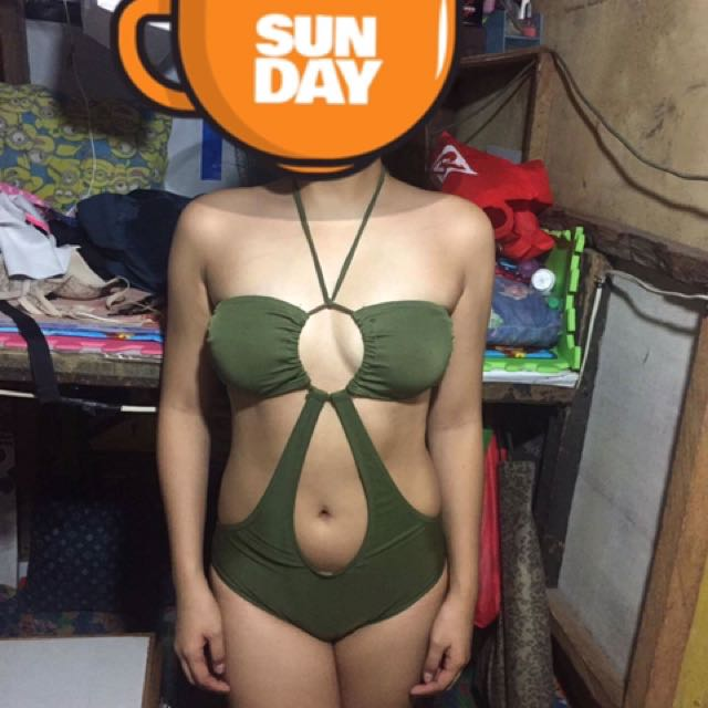 ARMY GREEN ONE PIECE SWIMSUIT