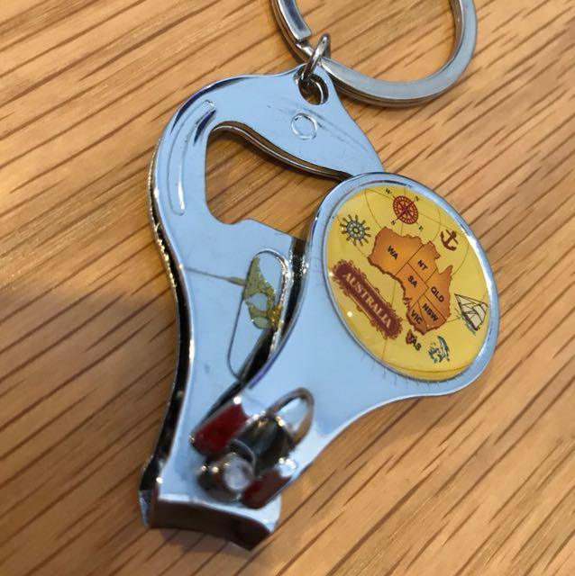Australia Nail clipper/ beer opener/ key chain