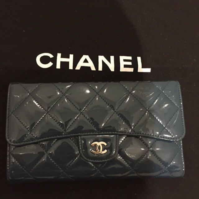 Authentic Chanel Classic Flap Long Wallet