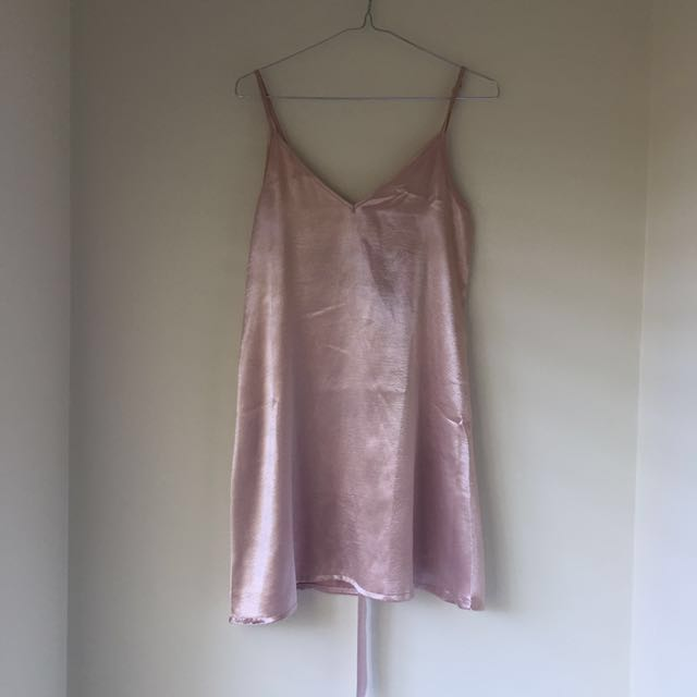 AVA AND EVER PINK SATIN SLIP DRESS