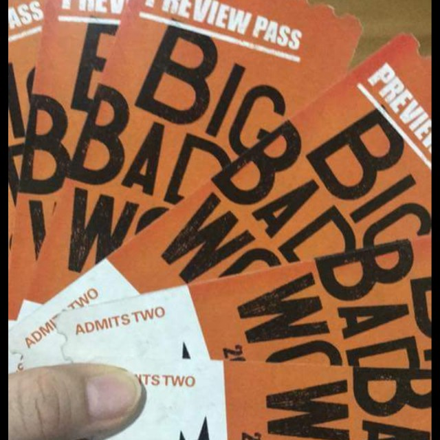 BBW 2017 Preview Pass Big Bad Wolf