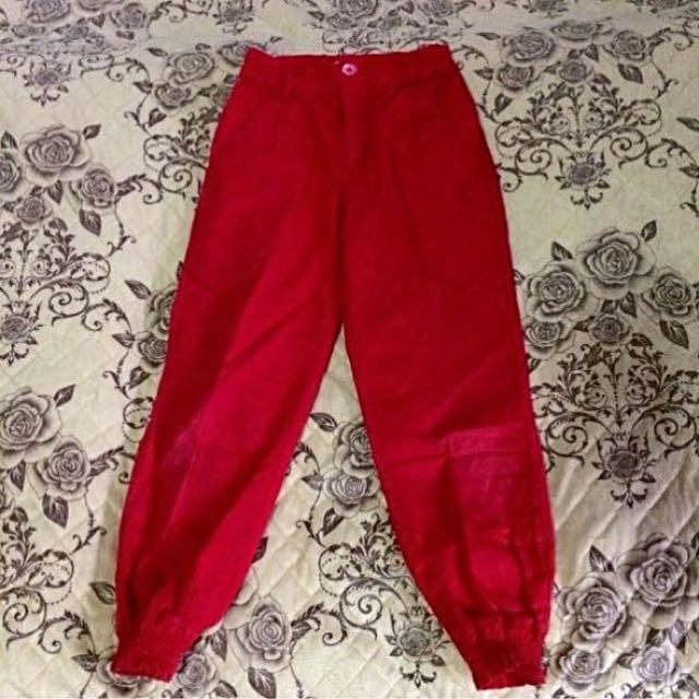 Big & Small Red Pants
