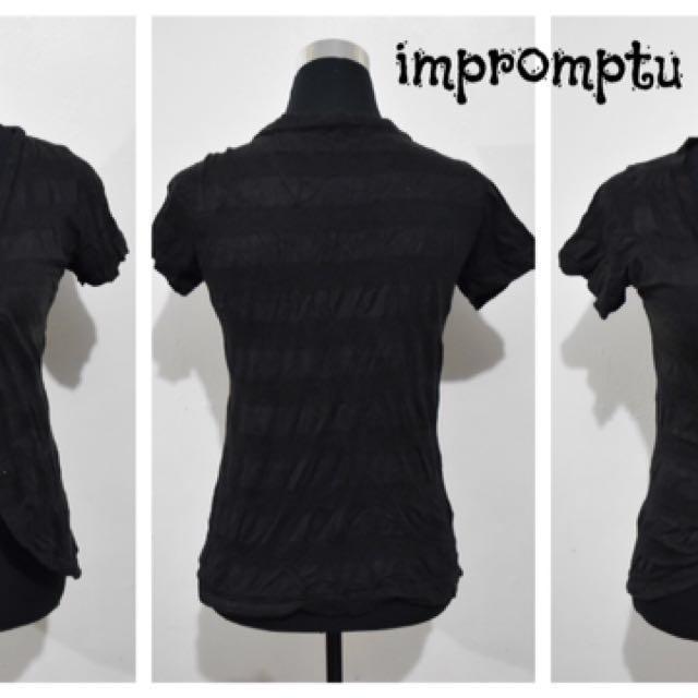 Black Bolero/short sleeve Cover Up