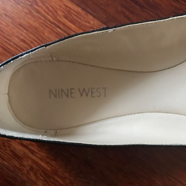 Black Flats with Gold Detailing - Nine West Size 7 1/2