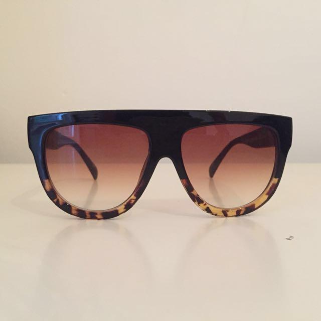Black Leopard Celine inspired sunglasses