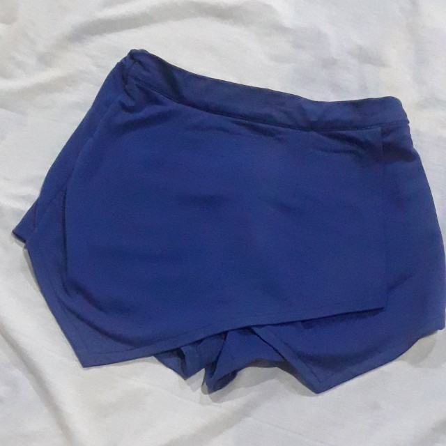 Blue Cotton Origami Skort