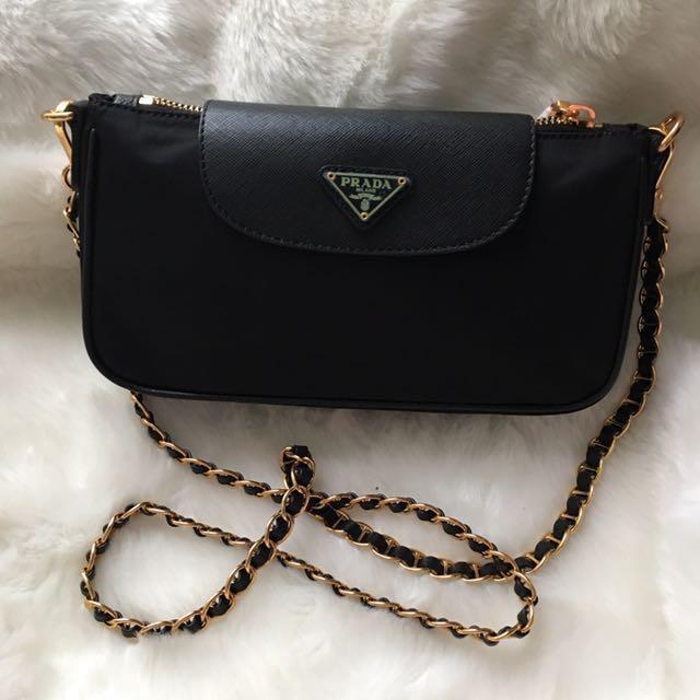 ... cheap bn authentic prada saffiano nylon sling bag luxury bags wallets  on carousell c32a0 c8c3a ff0e1216543ca