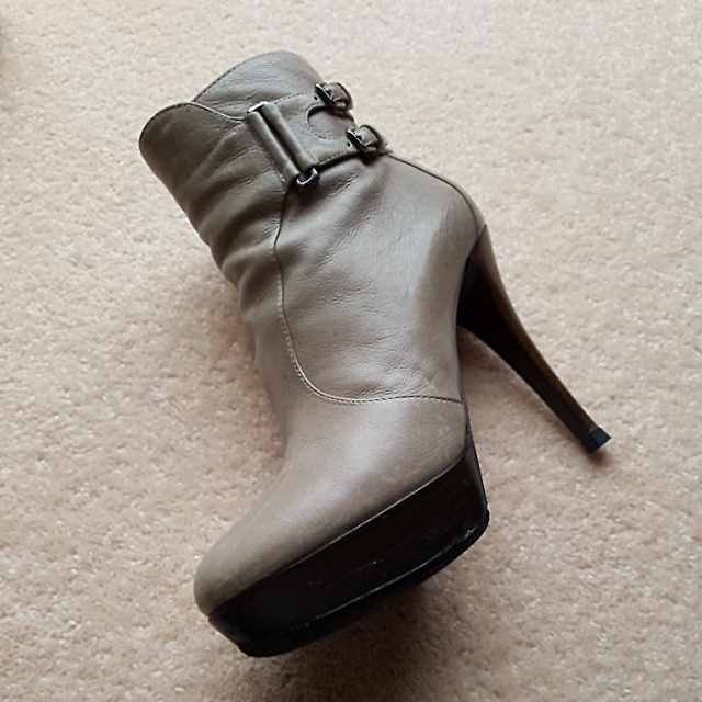 Boots. Grey color