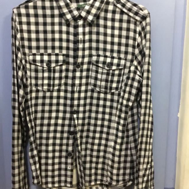 Bossini Flannel Black White Size Medium