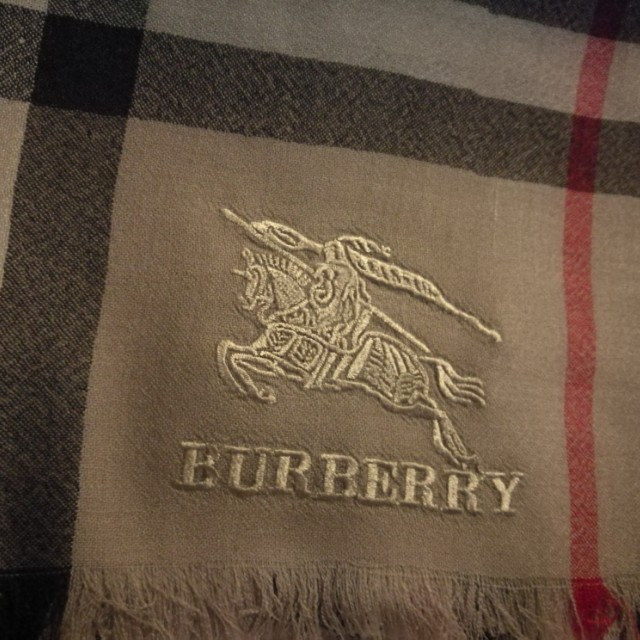 BURBERRY cashmere scarf lightweight