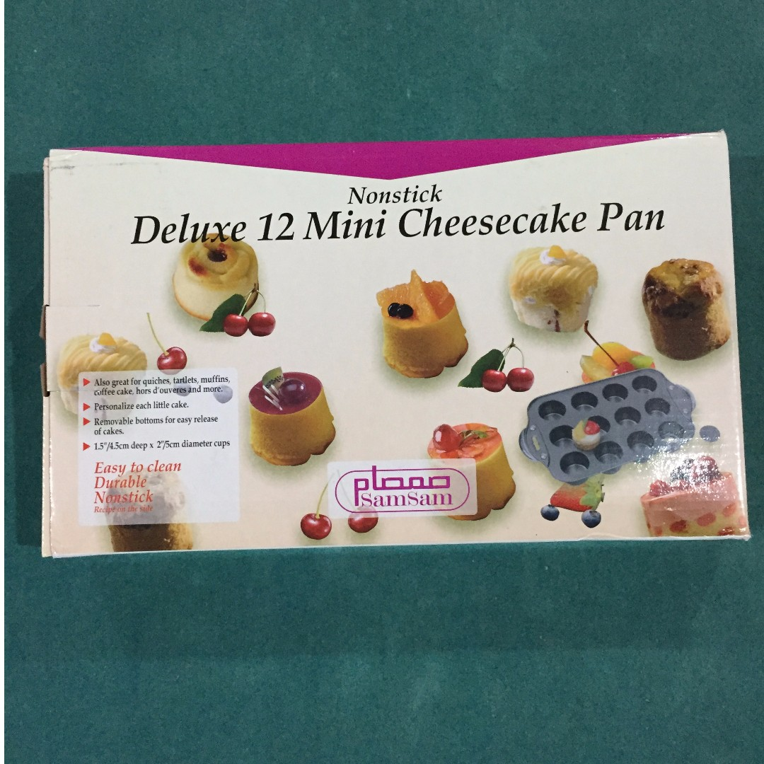 Cheese Cake Pan (12 Mini) Also great for quiches, tartlets, muffins, coffee cake and more