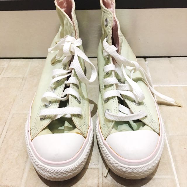 Converse pink green canvas