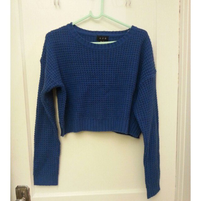 Cropped Royal Blue Sweater
