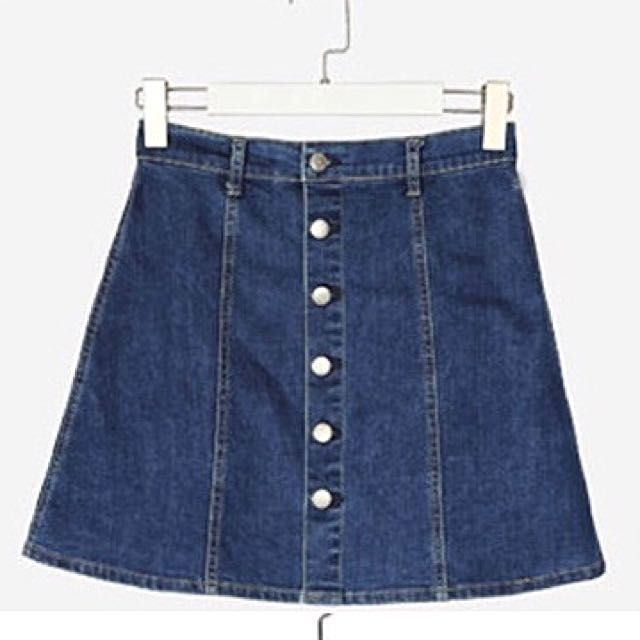 409949dc4 Denim Button Down Skirt (Plus Size), Women's Fashion, Clothes, Dresses &  Skirts on Carousell
