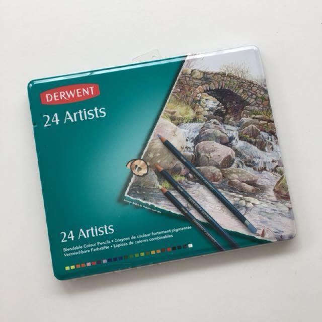 Derwent 24 Artists Colour Pencils