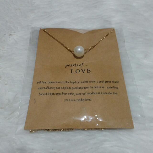 Dogeared Meaning Necklace In Pearls Of Love