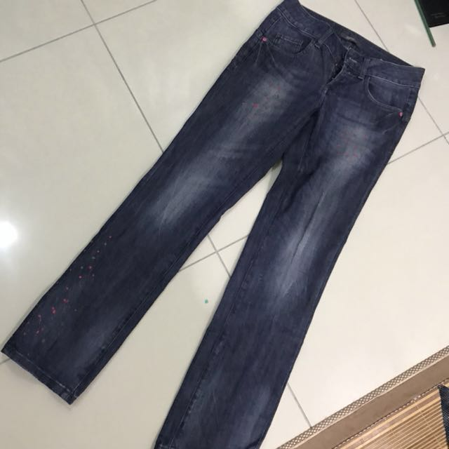 Esprit Splash Paint design Straight cut jeans