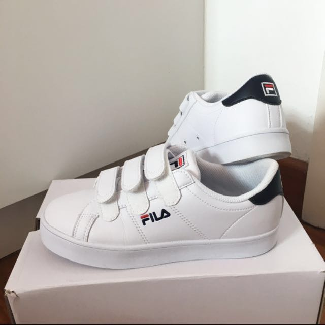 FILA court deluxe velcro shoes (navy