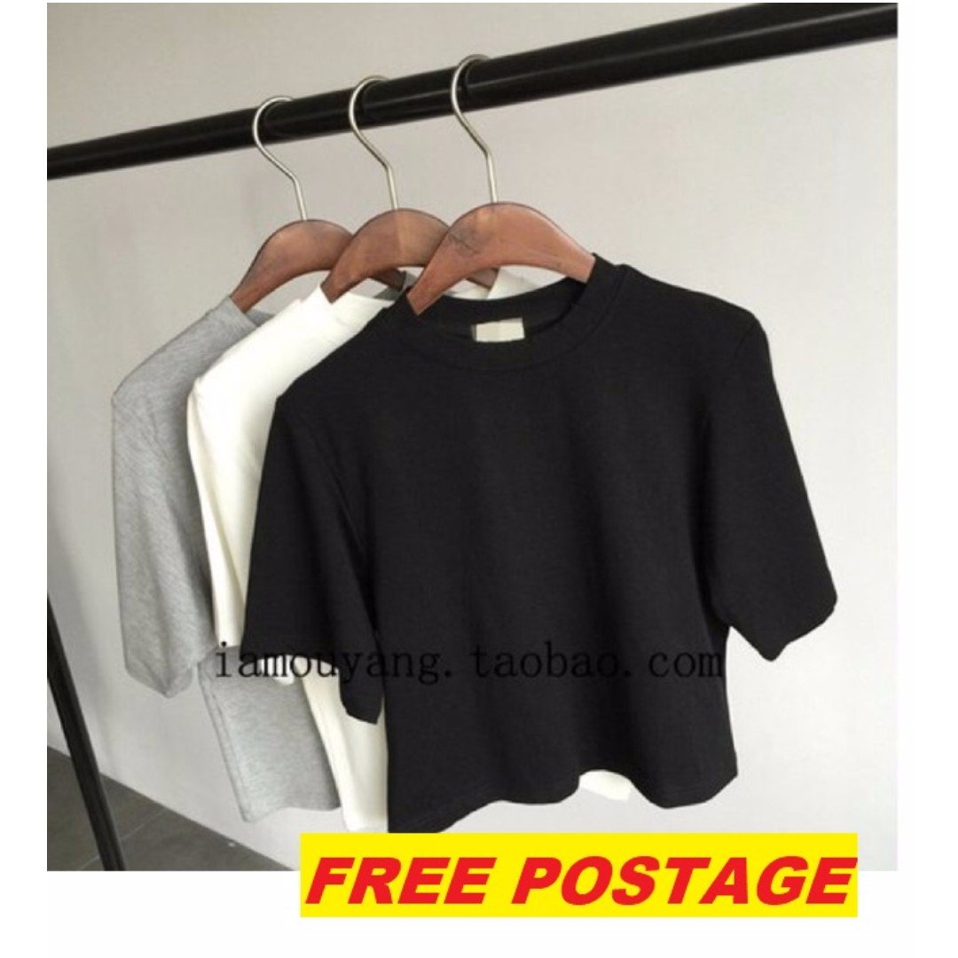 [FREE POS]Crop Top Tee Shirt