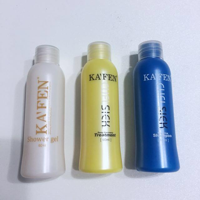 📮[FREE POSTAGE ] KA'FEN Shampoo & Shower Gel travel Set