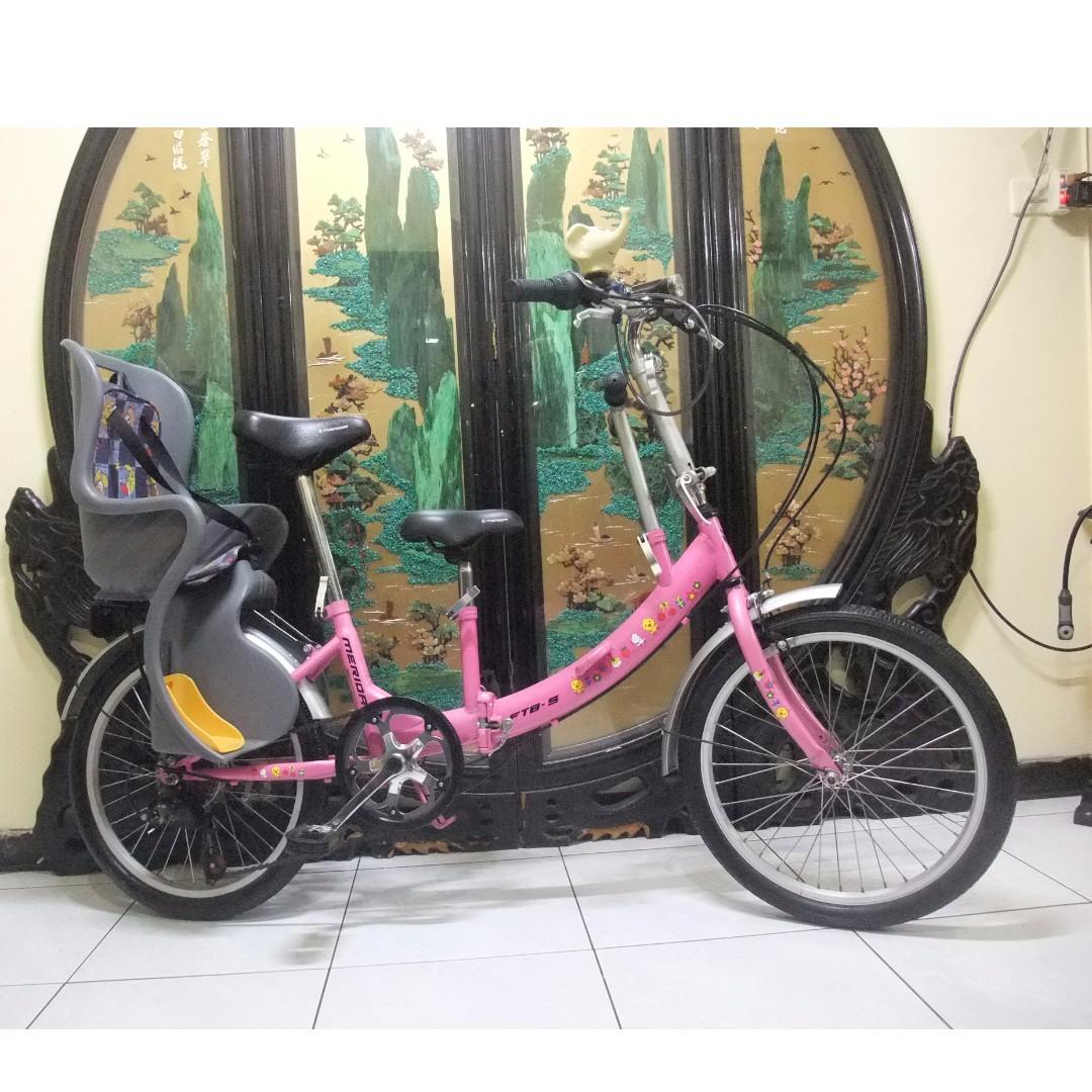 merida美利達ftb-5粉紅色20吋6段shimano六段變速折摺疊親子腳踏車.ˋ桃園市桃鶯路附近自取 Folding bike