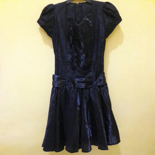 gaun midi dress