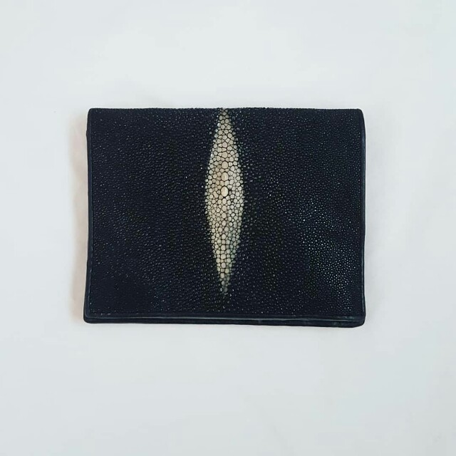 Genuine Stingray skin and leather wallet