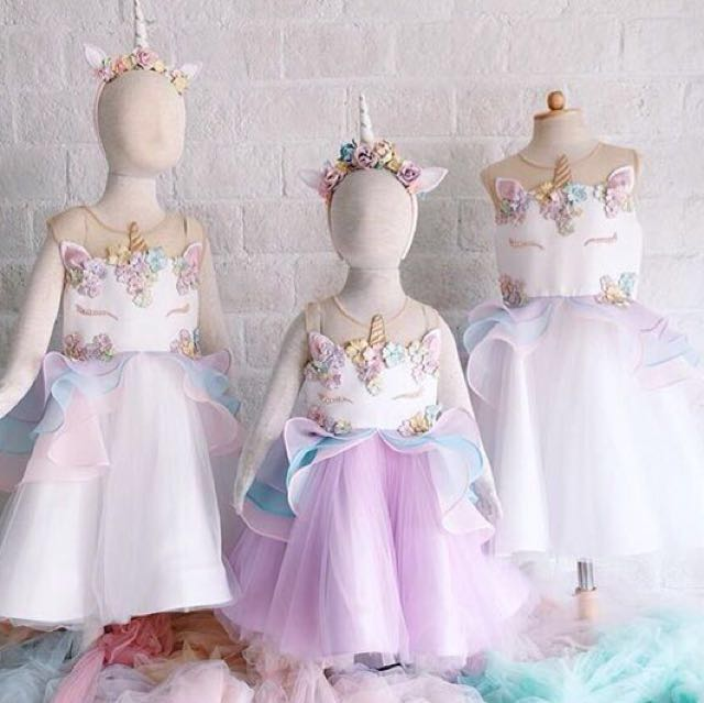 88ddfc8331c Girl Dress Unicorn Princess Dress - Haute Couture - Made by Order ...
