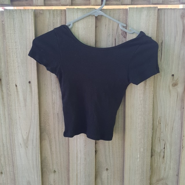Glassons Black Crop