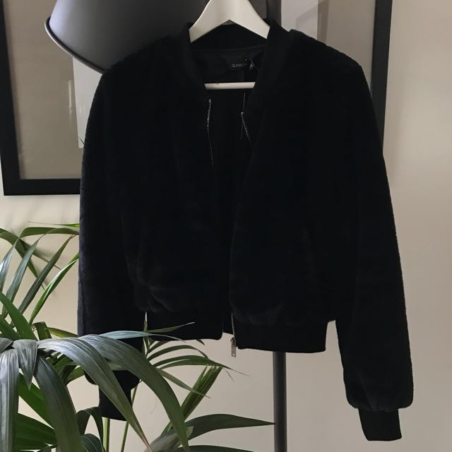 Glassons faux fur bomber jacket.