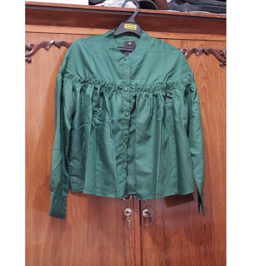 green emerald blouse