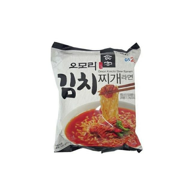 韓國GS25限定 食客泡菜鍋拉麵(附泡菜包) 160g/包  整包的泡菜包,新鮮口感,現貨到!