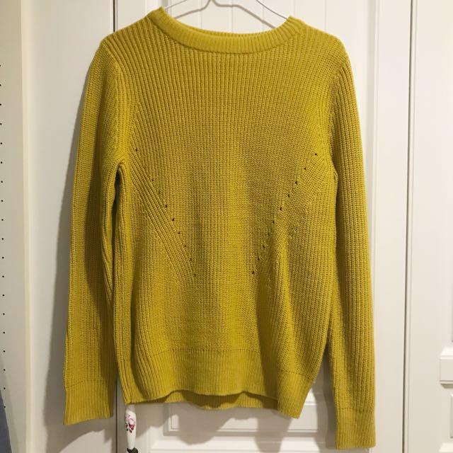 GU針織毛衣(芥末黃)