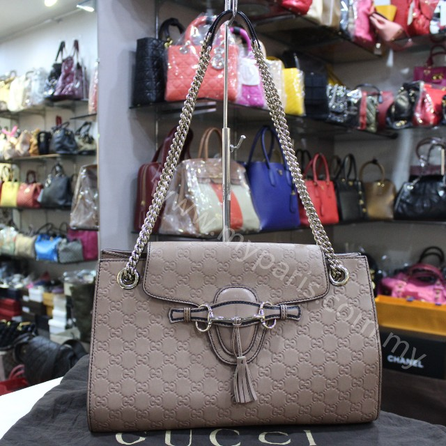 Gucci Emily Guccissima Chain Shoulder Bag