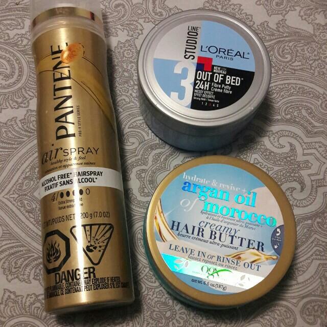 Hair products, spray organ cream gel