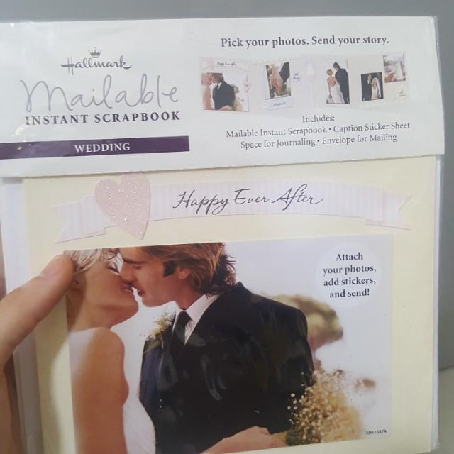 Hallmark Mailable Instant Scrapbook For Wedding Design Craft