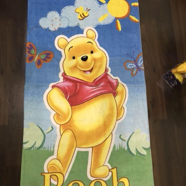 Handuk mandi disney Pooh ( new )