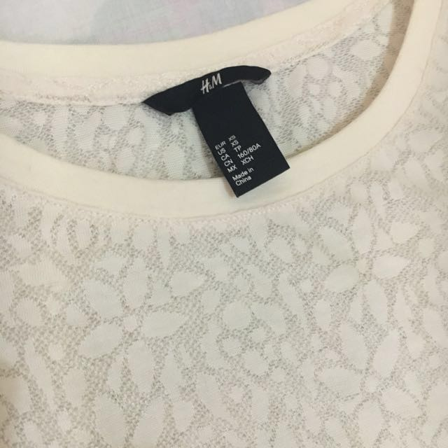 H&M Floral Laced Pullover