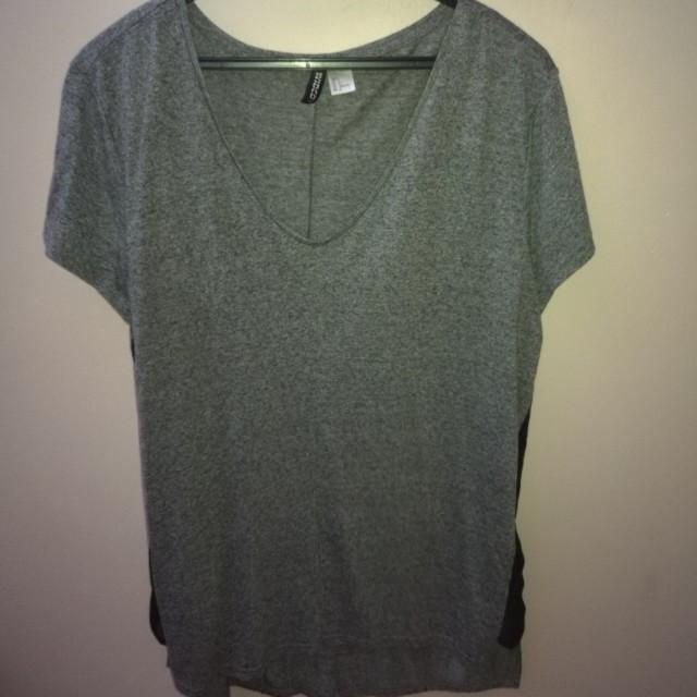 H&M Oversize Loose Top - Grey