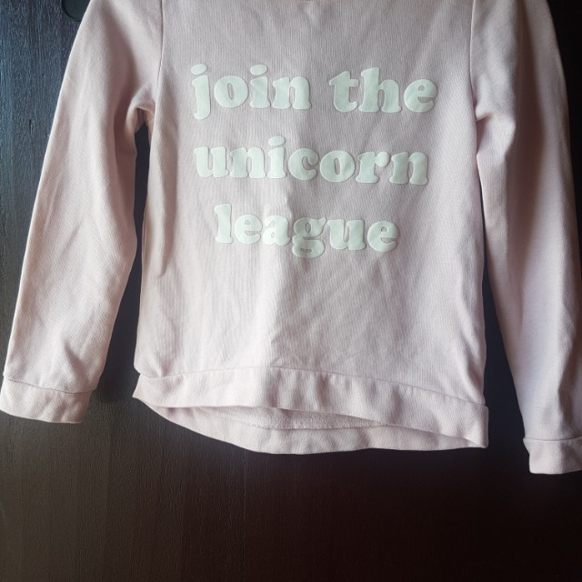 H&M Sweater : Join the Unicorn League (size 8) for 6 to 8 yrs old
