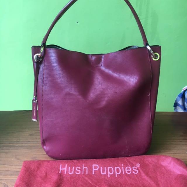 Hush puppies maroon handbag