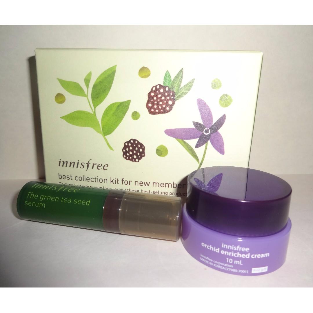 Inisfree Green Tea Serum & Orchid Enriched Cream