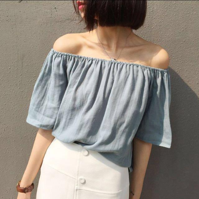 e8497d9e689 [INSTOCK] Ulzzang korean Off shoulder top