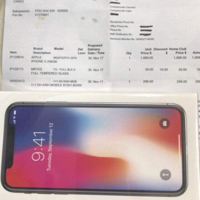 IPhone X  256gb Space Grey SEALED IN BOX !!!