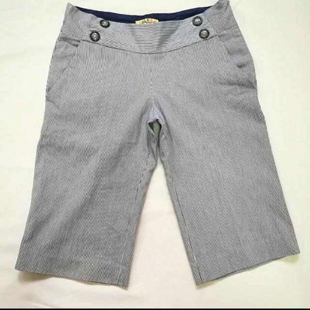 Kashieca Pin Striped Blue Bermuda Shorts