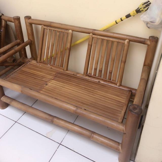 Kursi bambu 2 buah
